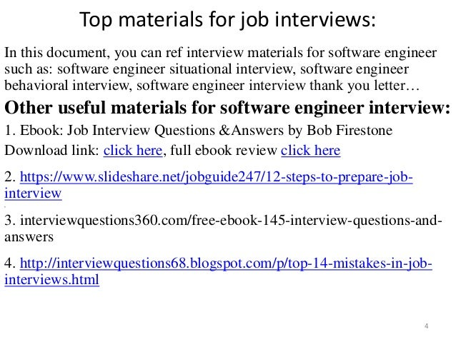 top  software engineer interview questions and answers