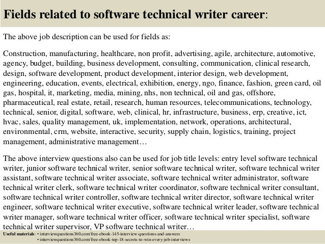 Top 10 software technical writer interview questions and answers