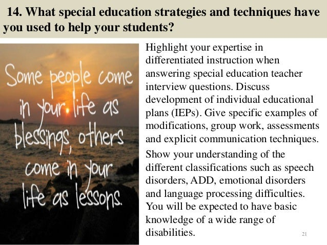 Why i want to be a special education teacher essay
