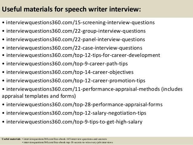 Speech writing service for school