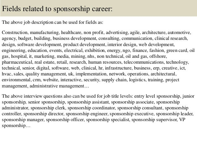 Top 10 Sponsorship Interview Questions And Answers