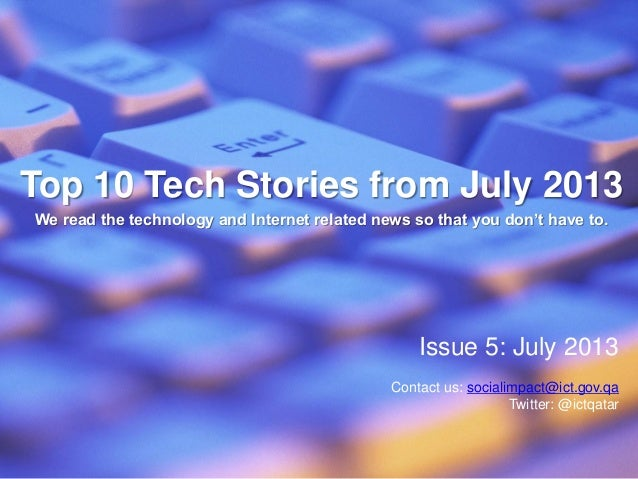 Top 10 Tech Stories from July 2013