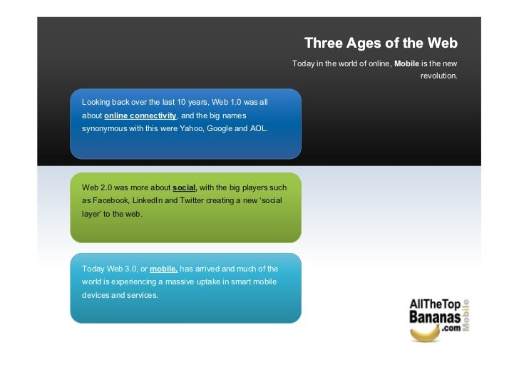 Three Ages of the Web                                                           Today in the world of online, Mobile is th...