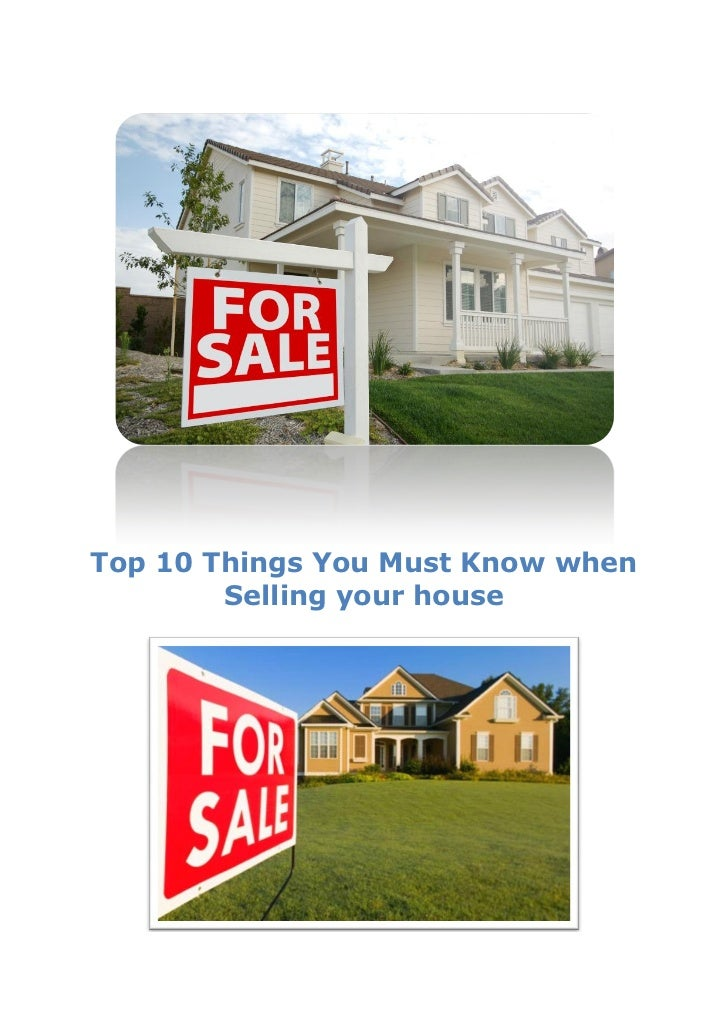 Top 10 things you must know when selling your house