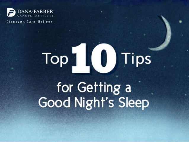 Top 10 Tips for Getting a Good Night's Sleep