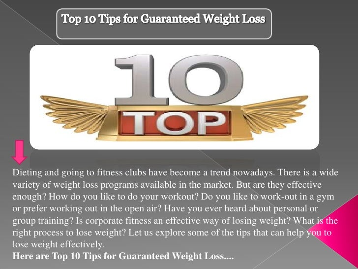 Dieting and going to fitness clubs have become a trend nowadays. There is a widevariety of weight loss programs available ...