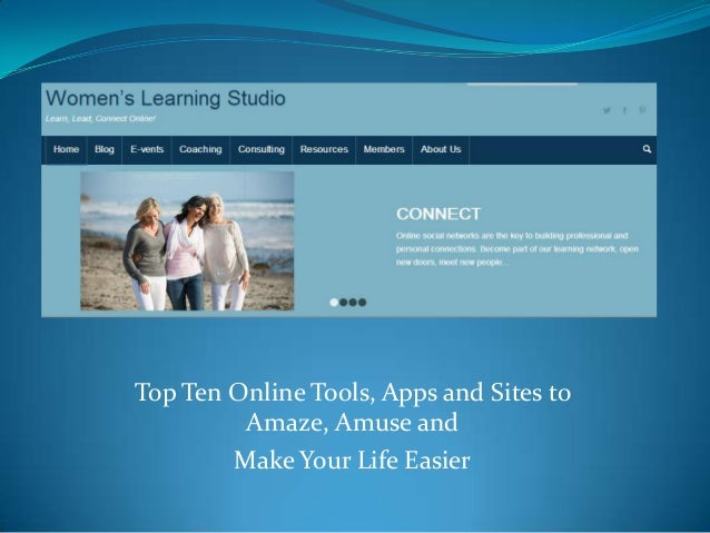 Top 10 Internet tools from the Women's Learning Studio