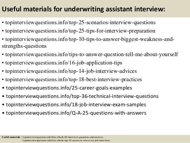 top underwriter assistant resume samples 15 useful materials ...