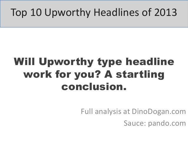 Top 10 Upworthy headlines of 2013