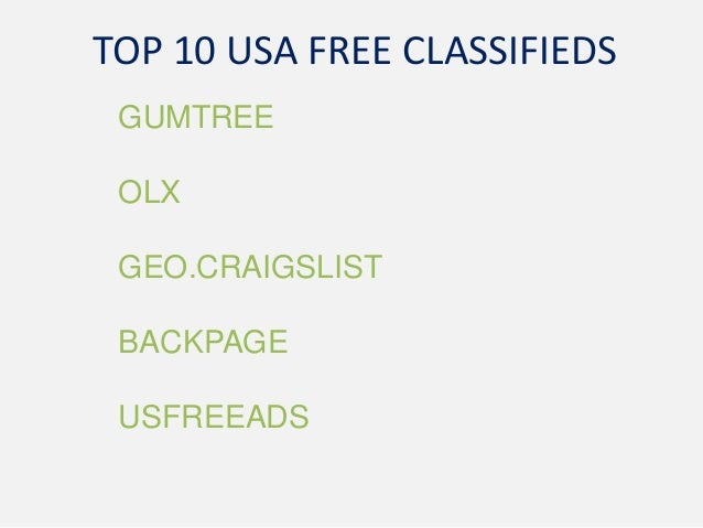Top 10 usa free classifieds websites - dragg.in