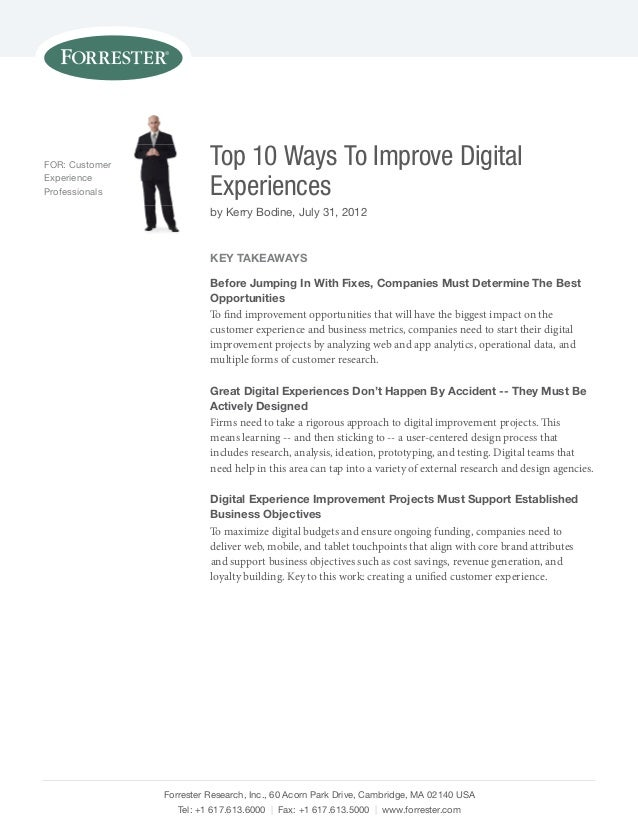 Top 10 Ways To Improve Digital Experiences
