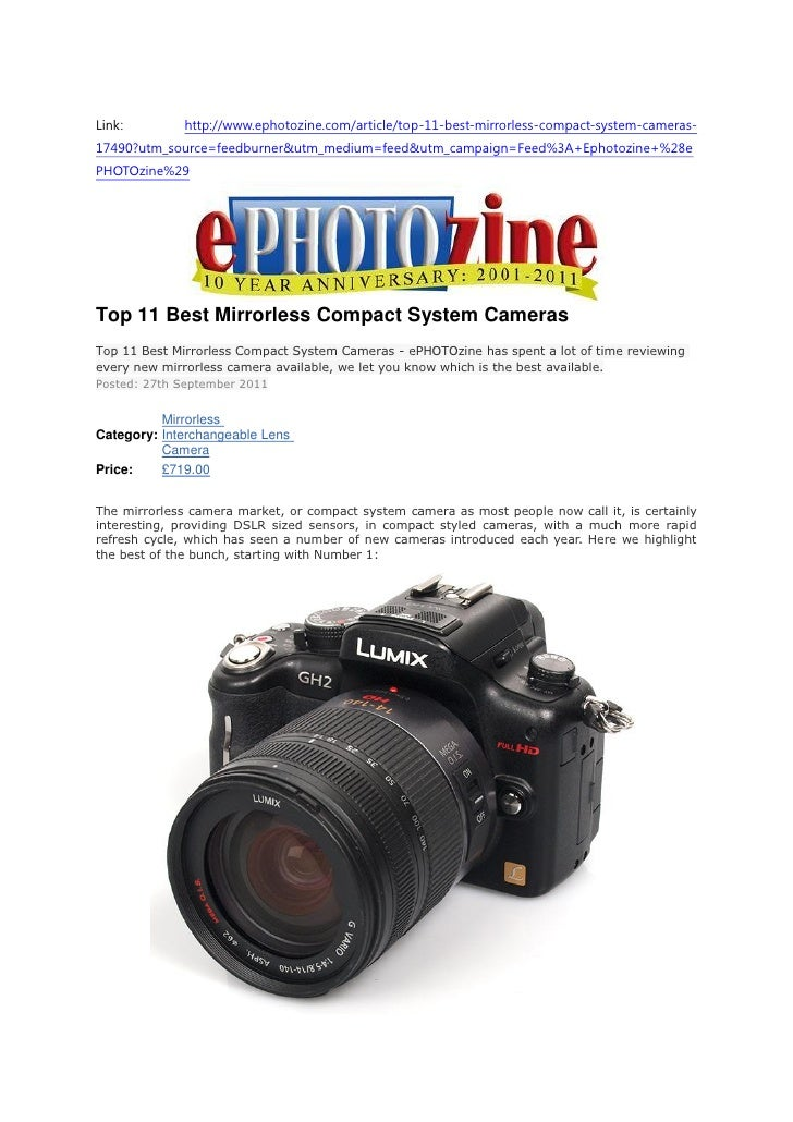 Top 11 Best Mirrorless Compact System Cameras (Ephotozine)