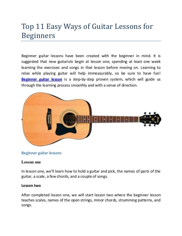 Beginners guide to learning to play guitar