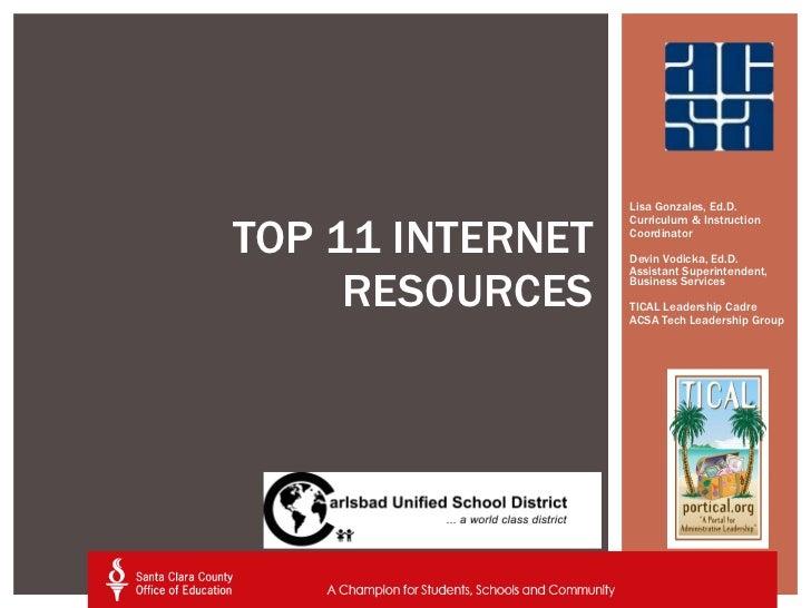Top 11 Resources