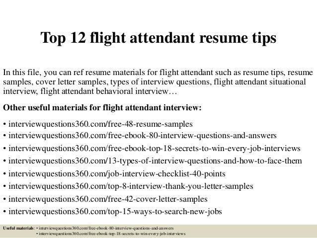 interview questions flight attendant