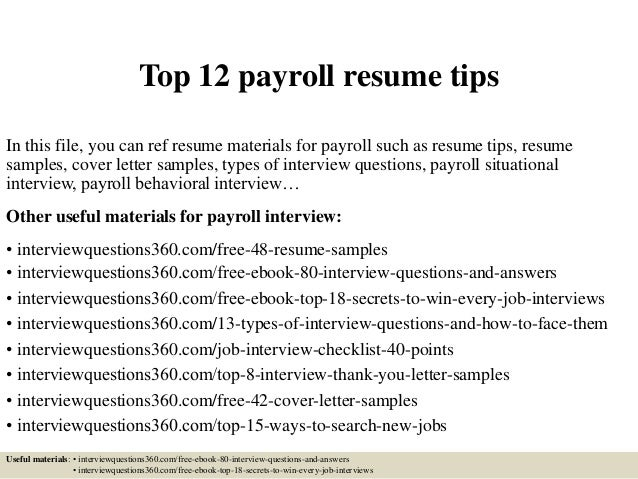 payroll resumes accounting assistant resume seangarrette best ...