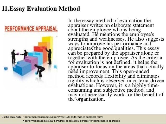 Essay Evaluation