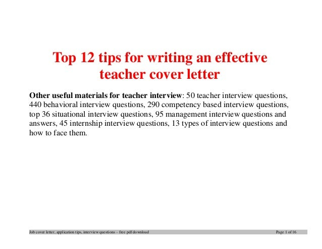 writing a cover letter for teaching assistant