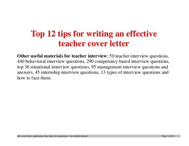 Teacher Aide Cover Letter Sample Teacher Cover Letter Examples