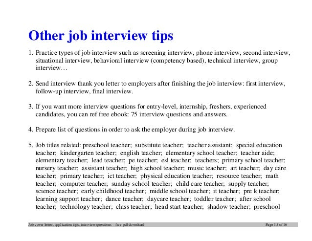 Secrets of writing effective cover letter