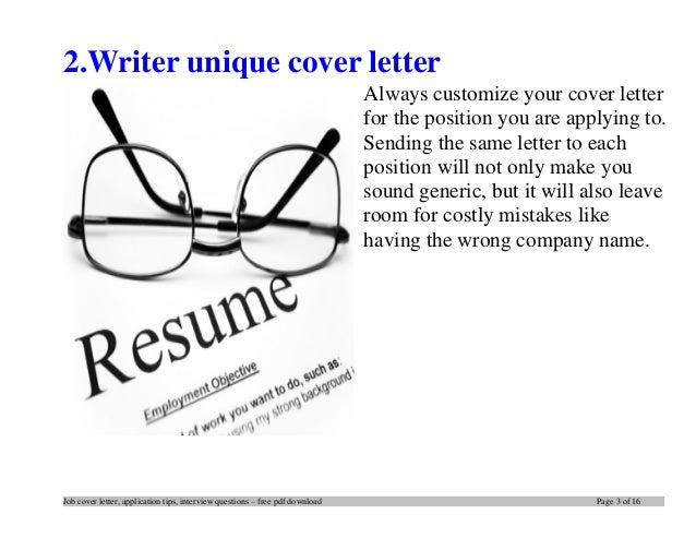 tips writing an effective cover letter