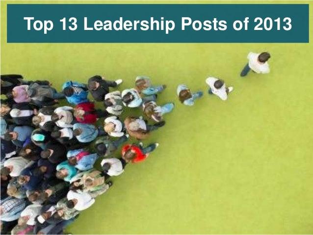 Top 13 Leadership Posts of 2013