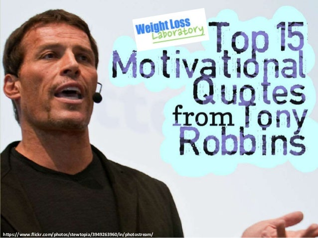 Top 15 Motivational Quotes from Tony Robbins