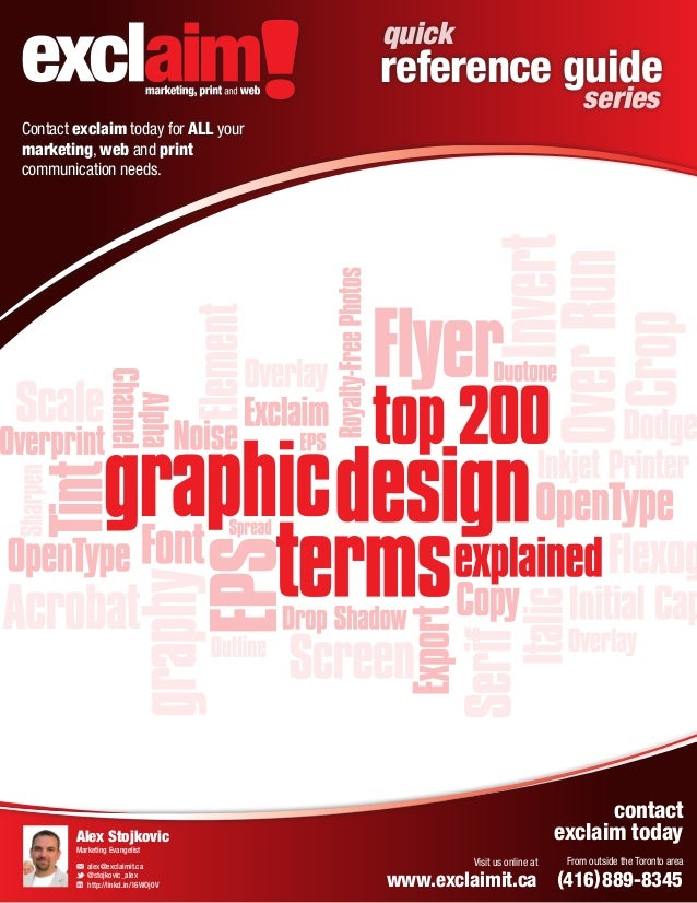 quick  reference guide series  Contact exclaim today for ALL your marketing, web and print communication needs.  marketing...