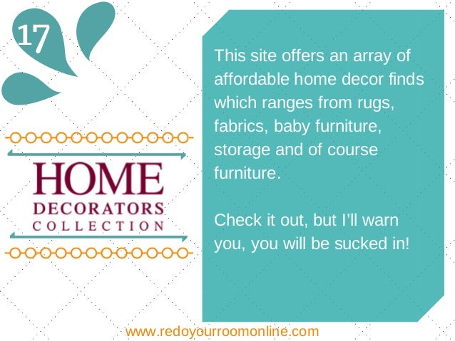 28 discount home decor sites discount home decor for Affordable home accents
