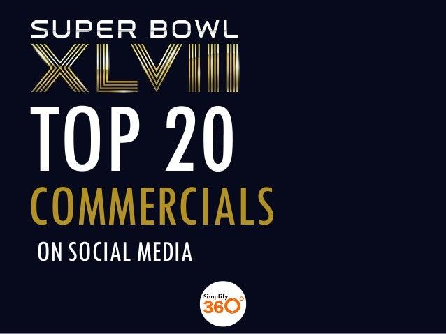 TOP 20  COMMERCIALS ON SOCIAL MEDIA
