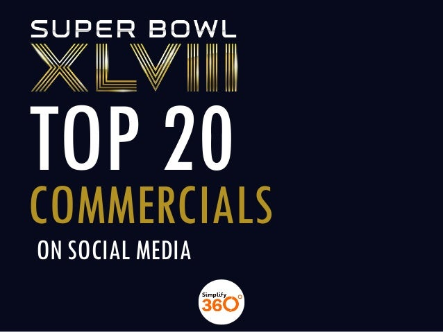 Top 20 superbowl commercials on social media