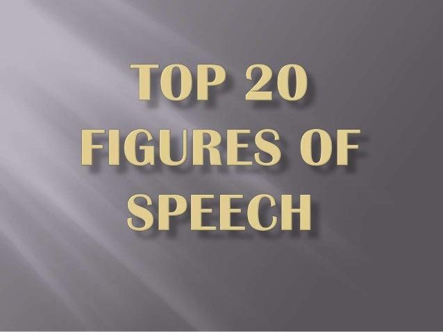 Top 20 figures of speech