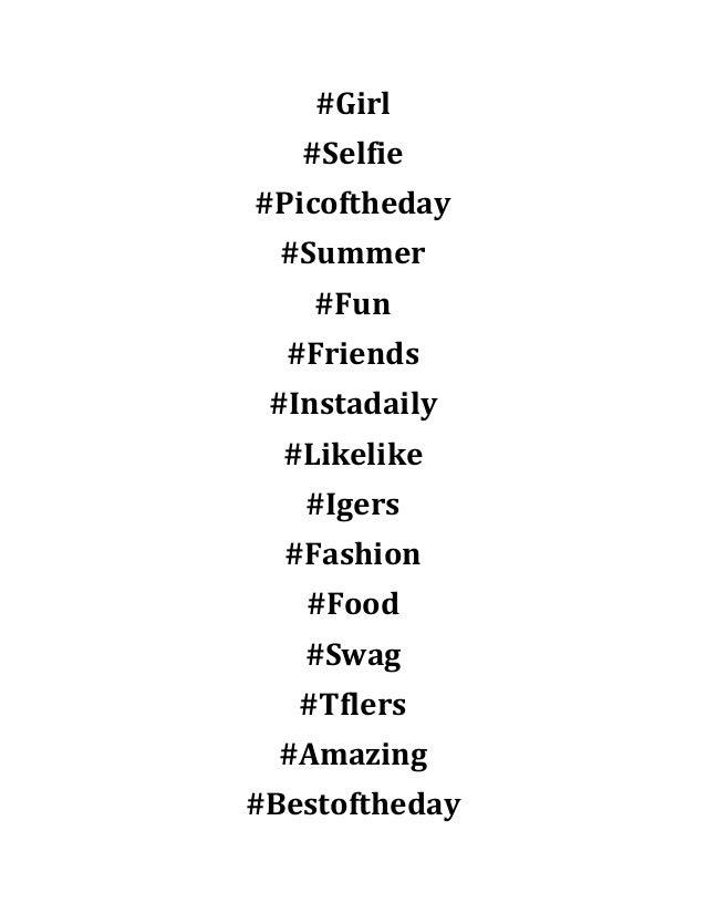 Top 300 Instagram Hashtags