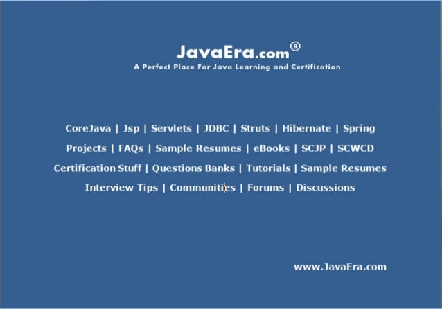 www.JavaEra.comwww.JavaEra.com Page 1Q1. What is the difference between an Abstract class andInterface?1. Abstract classes...