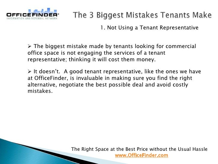 (2010) Top 3 biggest mistakes office tenants make