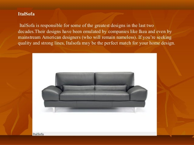 Top 4 italian furniture brands worldwide for Best furniture brands in usa
