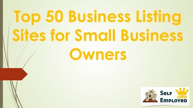 Top 50 Business Listing Sites for Small Business Owners