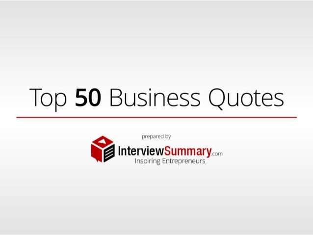 Top 50 Business Quotes