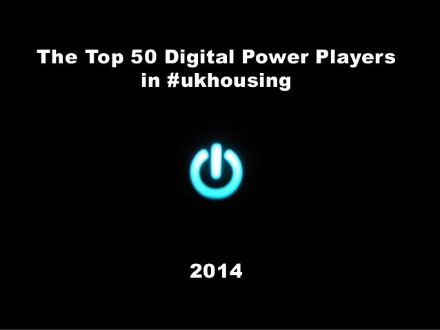 Top 50 Digital Power Players in Housing 2014