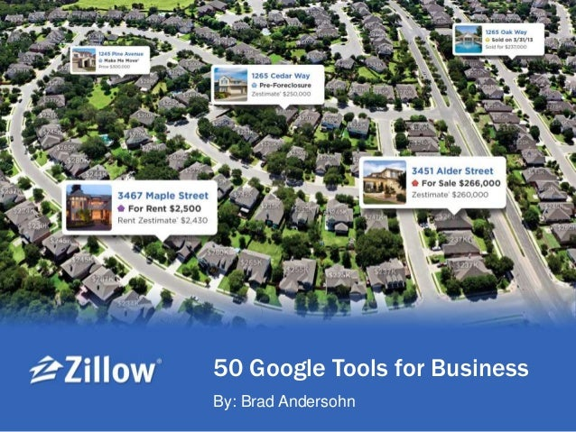 50 Google Tools for Business By: Brad Andersohn