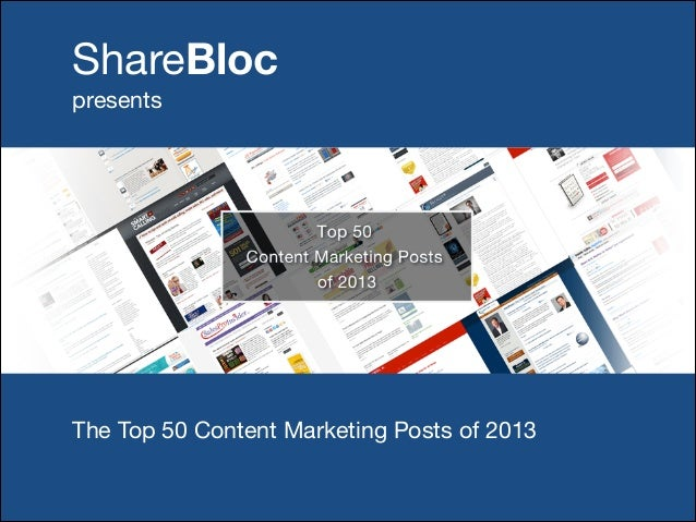 The Top 50 Content Marketing Posts of 2013
