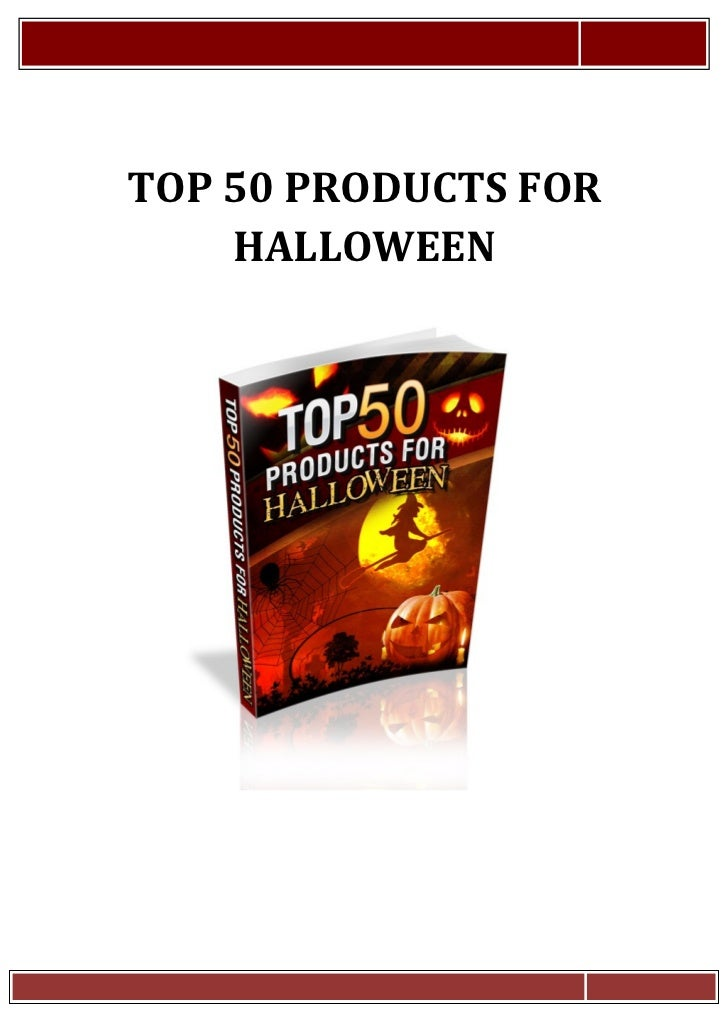 Top50 productsforhalloween