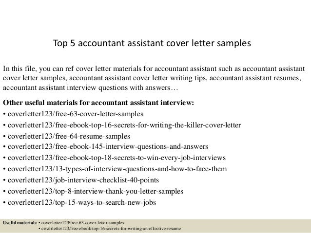 Materials Sales And Cover Letter For An Accounting Or Fax Your Assistant Edit Resume Example