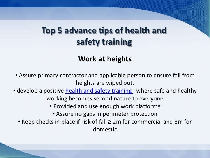 Health Safety Tips Tips of Health And Safety