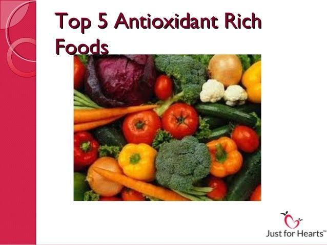 Top 5 antioxidant rich foods