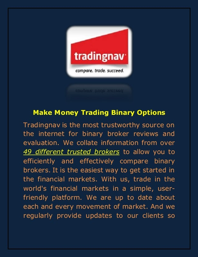 Online binary options trading brokers