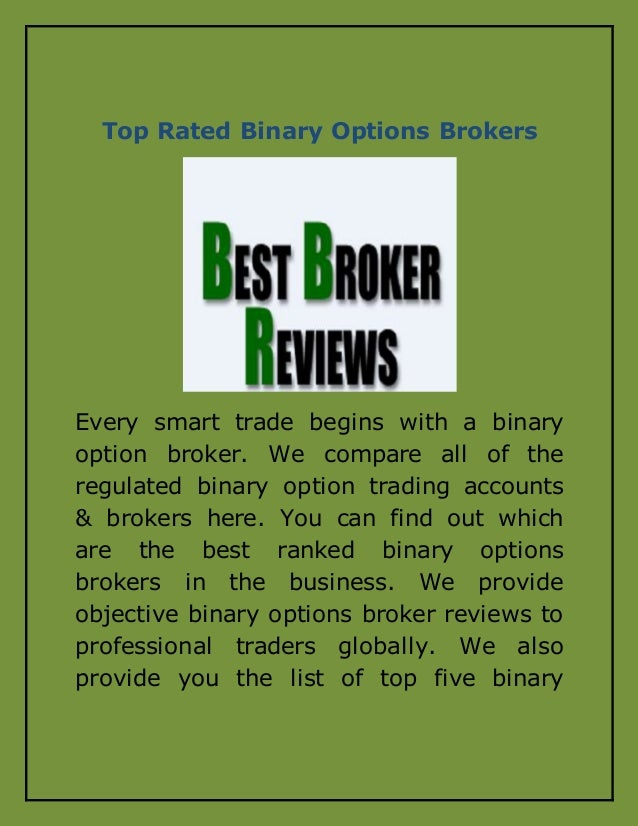 Top 10 binary options brokers 2017