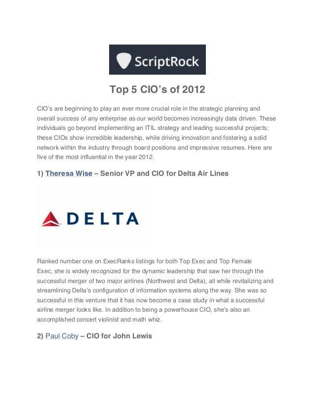 Top 5 CIO's of 2012