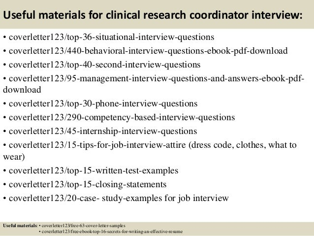 top 5 clinical research coordinator cover letter samples