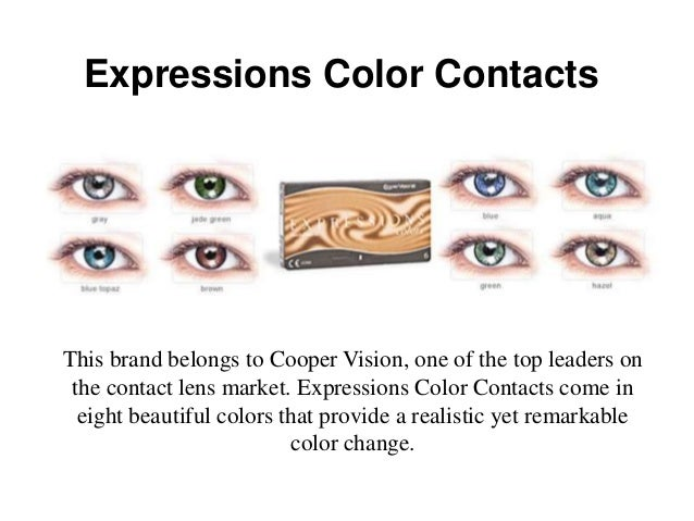 Expressions Color Contacts Colors Expressions Color Contacts